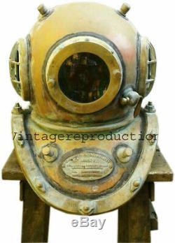 18 FULL SIZE COPPER, BRASS Antique Diving Divers Helmet 12 BOLT Mark V BOSTON