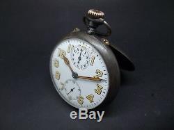 1914-1918 WW1 ZENITH Military Alarm Pocket watch. Fully working