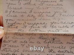 1914 era WW1 letters from Doris of Bradford to Ernest Boston 7609 SALTaire b