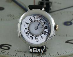 1915 Dated WW1 Silver Half Hunter Original SS&Co Trench Watch Awesome