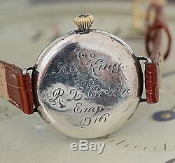 1916 WW1 Waltham Trench Watch with Lovely Engraving