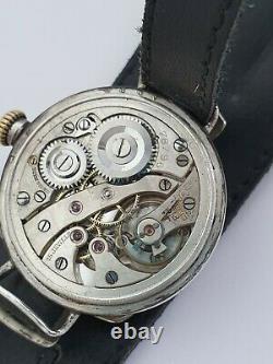 1916 WWI waltham military silver trench watch