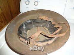 1917 WW1 US Army BRODIE Trench Helmet ORIGINAL Doughboy w LINER WWI USMC WAR