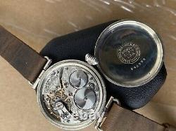 1917 WWI Waltham Military Trench Watch 0s 16J Semi-Hermetic Illinois Case