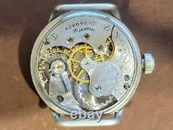 1918 MEN'S WWI ELGIN MILITARY Trench Watch with Shrapnel Guard