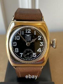 1918 WWI ELGIN Military BLACK STAR Trench Watch VERY RARE Illinois Barrel Case