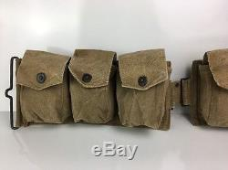1918 WWI World War I Browning Automatic Rifle BAR Belt With Butt Cup