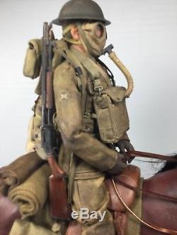 1/6 Custom Built Dragon Us Ww1 Doughboy & Horse +gasmasks 97 Shotgun DID Bbi 21