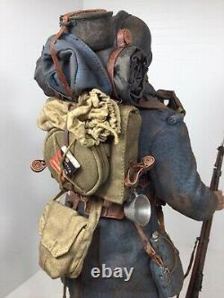 1/6 DID Ww1 French Front Line Infantry Berthier + Stand Trenches Dragon Bbi 1917