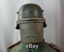 1 WK Maske der Stoßtruppsoldaten stahlhelm ww1 helmet pickelhaube casque helm