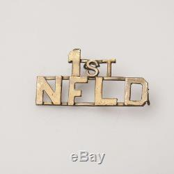1st Newfoundland Brass Shoulder Title Badge Original WW1