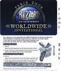 2008 Paris WWI Blizzard World Wide Invitational Mini Tyrael's Hilt Pet Loot Card