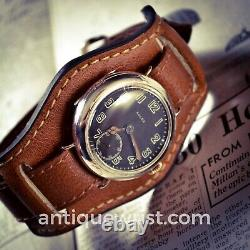 34mm Rolex W&D 1918 WW1 military officers trench vintage men's wrist watch