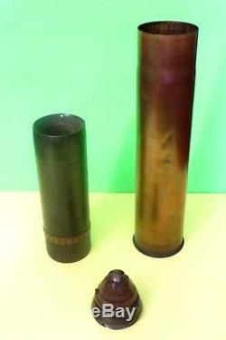 75MM WWI Howitzer inert shell and projectile Militaria collectible