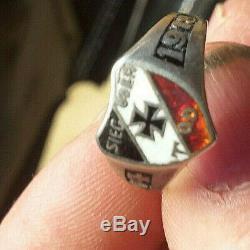 800er Silber-Ring 1WK Patriotisch 1914 -18 Nachlass Dachbodenfund Bodenfund ww1