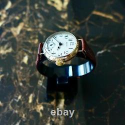 A Rare Vintage 1919 Ww1 Gold Gents British Military Rolex Trench Officers Watch