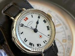 Absolutely Stunning West End Red Cross Signed WW1 Trench Watch Awesome Dial