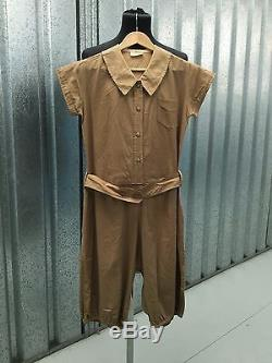 All In One 20s Romper Antique Gym Suit WW1 Athletic PT WW2 WAC Gym Suit Jumpsuit
