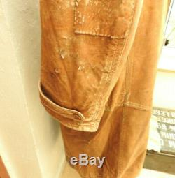 An Original Rare WW1 Military RFC Royal Flying Corps Leather Flying Coat (5469)
