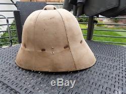 Ancien casque colonial ww1 pain de sucre