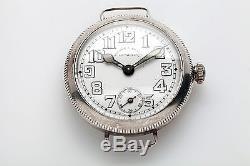 Antique 1900s WW1 Wilson & Sharp Edinburgh ROLEX Signed Sterling Mens Watch