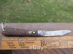 Antique 1909 Schrade Cut Co. Walden N. Y. Knife Ww1 Knife Ww2 Knife