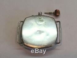 Antique 1918 Borgel Sterling Silver WW1 Officers Trench Watch 34mm 15 Jewels