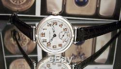 Antique 1918 Solid Silver Military Longines Trench Watch Ww1 League Of Nations