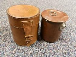 Antique A. Barrett & Son Piccadilly WW1 Military Campaign Stove With Leather Case