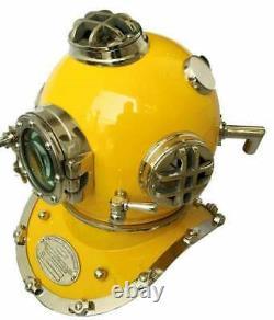 Antique Blue 18 Diving Helmet US Navy Mark V Scuba Divers Helmet Replica