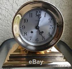 Antique Chelsea Ships Bell Clock Very Rare Admiral Red Brass 6 Dial Ca. 1921