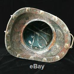 Antique FULL SIZE Diving Divers Helmet BRASS, COPPER Vintage Deep Sea Scuba #1241