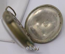 Antique Fulton WWI Trench Wristwatch, Black Radium Dial, Original Leather Strap