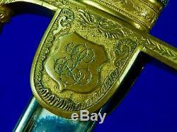 Antique German Germany WW1 Grosser Lion Head Artillery Sword with Scabbard