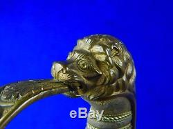 Antique German Germany WWI WW1 Lion Head Quillback Officer's Sword