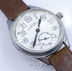 Antique Mens Art Deco 1920s CYMA Tavannes Watch Co. WWI MILITARY Wrist Watch