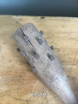Antique Military WW1 Trophy Relic Trench Club Militaria