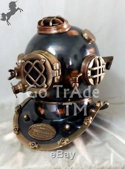 Antique US Navy Diving Helmet Boston Deep Sea Divers Scuba Marine Christmas Gift