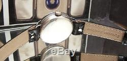 Antique Vintage 1918 Blk Dial Solid Silver Ww1 Officers Trench Watch Rare Guard