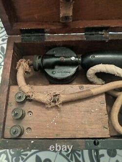 Antique WW1 Portable Phone / Field Telephone Type G 1916