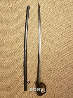 Antique WWI Argentine Model 1898 Cavalry Sword & Scabbard Germany Matching #'s