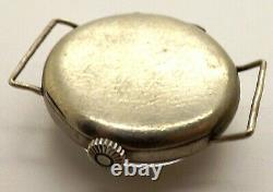 Antique WWI Era CYMA Original Wire Lug Military Steel Case Trench Watch