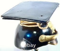 Antique WWI Imperial German Prussian Pickelhaube Leather Uhlan Officer Helmet