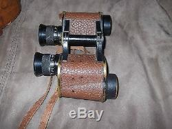 Antique Ww1 Wwi Military Binoculars No. E 202222 Us Army Signal Corps Talbot Reel