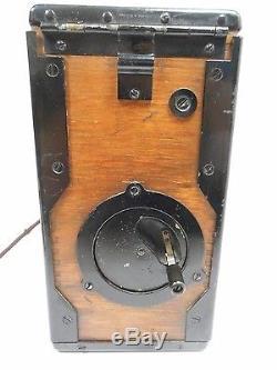 Antique Wwi Field Telephone Kellogg Model 1917 Signal Corps U. S. Army Morse Code
