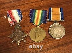 Australian ANZAC AIF WWI Medal Trio Pte EJ Gough NSW with 4th BTN at Gallipoli