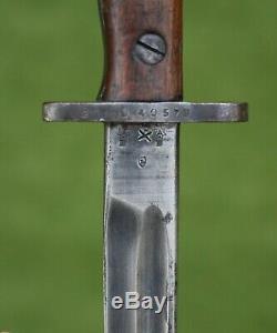 Australian WW1 Dated 1916 Lithgow P07 Bayonet and Scabbard (ANZAC Interest)
