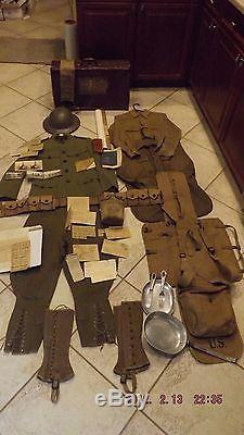 Authentic 1917 World War 1 Us Army Uniform