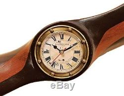 Authentic Models WW1 Vintage Wooden Propeller With Clock 120cm