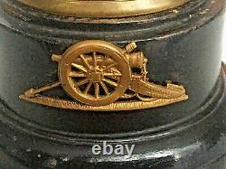 Authentic WW1 Trench Art Relic Ornamental Mounted Wooden Base Paperweight